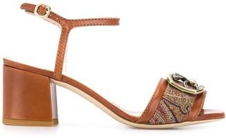 Etro Pegaso buckle sandals