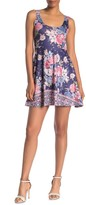 Angie Floral Print Fit & Flare Skater Dress