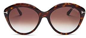 Tom Ford Women's Maxine Polarized Round Sunglasses, 57mm
