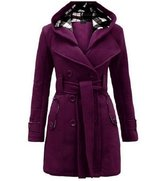 Huafeiwude Womens Winter Double-Breasted Coats Thickening Outwears Trench Jackets 2XL