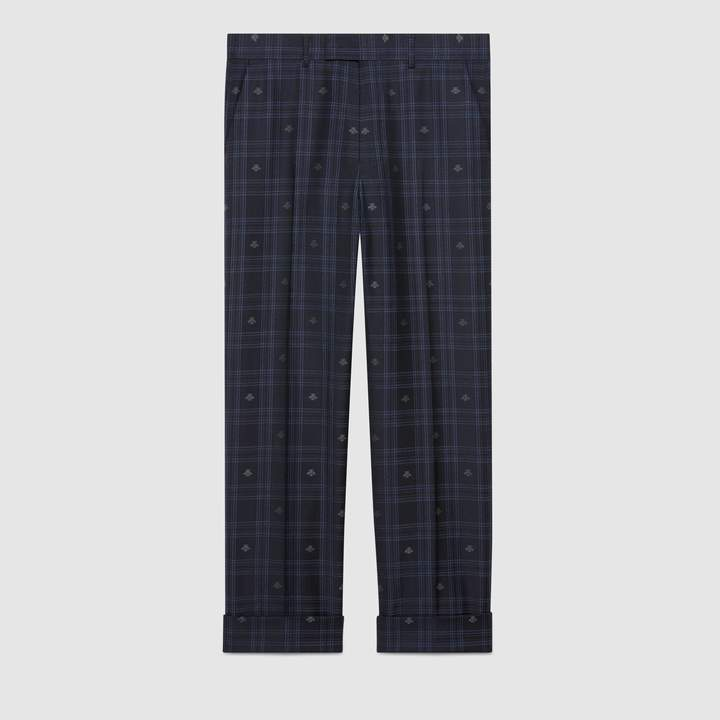 Gucci Tailored bee check pant