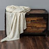 Decorative Metallic Cable Knit Throw