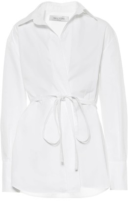 Valentino Cotton poplin wrap shirt