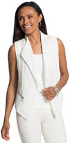Chico's Linen and Crocheted Lace Mix Vest