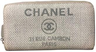 Chanel Grey Cloth Wallets