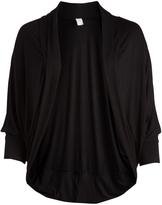 Glam Black Open Cardigan - Plus