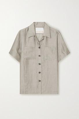 REMAIN Birger Christensen Siena Textured Linen-blend Shirt - Gray