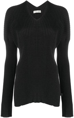 Bottega Veneta Cinched V-Neck Top