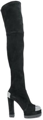 Casadei Thigh-High Suede Boots
