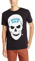 WWE Men's Legends Stone Cold Steve Austin 3 16 and Skull Licensed T-Shirt, Black, Medium