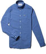Lacoste Men's Regular Fit Mini Check Cotton Poplin Shirt