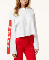 The Style Club Bell-Sleeve Woman Graphic Sweatshirt