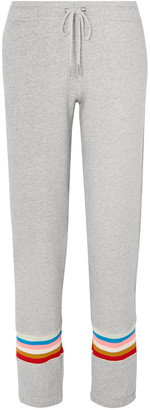 ALEXACHUNG Striped French Cotton-terry Track Pants