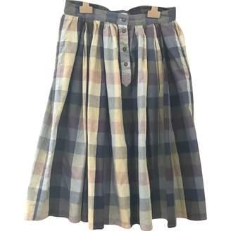 Margaret Howell Purple Linen Skirt for Women