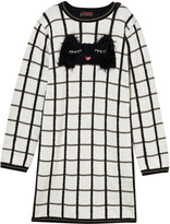 Catimini Black and White Cat Graphic Knit Dress