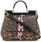 Dolce & Gabbana medium leopard print Sicily bag - women - Leather - One Size