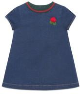 Gucci Infant Girl's Knit Collar Denim Dress