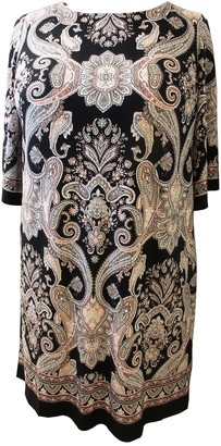 Sandra Darren Paisley Knit Shift Dress (Plus Size)