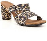 Onex Sassie Rhinestone-Embellished Leopard-Print Slide Sandals