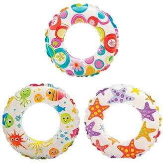 Intex Inflatable 20-Inch Lively Ocean Friends Print Kids Tube Swim Ring (3 Pack)