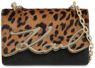 Karl Lagerfeld Paris Signature Ponyskin & Leather Bag