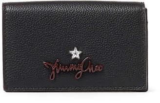 Jimmy Choo ZURI Black Grainy Calf Leather Card Holder