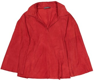 Alexander McQueen Red Suede Top for Women