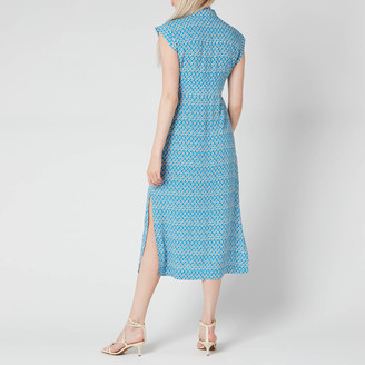 Whistles Women's Astrix Floral Blue Dress