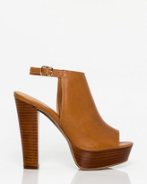 Le Château Leather Peep Toe Platform Shootie