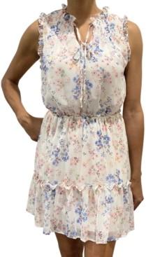 BeBop Juniors' Sleeveless Floral Tier Dress