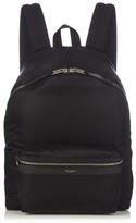 Saint Laurent Leather Trim Nylon Backpack
