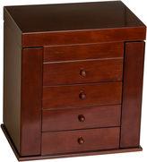 Asstd National Brand Mele & Co. Wooden Jewelry Box in Walnut Finish