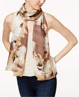 Vince Camuto Floral-Print Silk Scarf