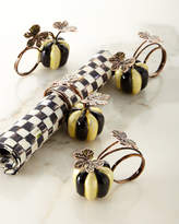 Mackenzie Childs MacKenzie-Childs Courtly Stripe Pumpkin Napkin Rings