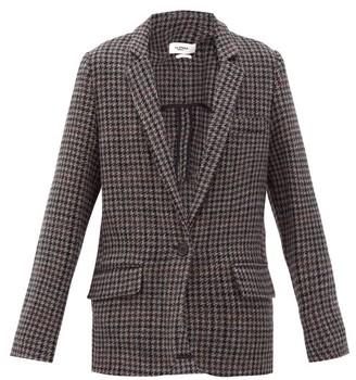 Etoile Isabel Marant Charly Single-breasted Houndstooth Wool Blazer - Grey Multi
