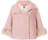 Blumarine fox fur cuff coat