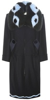 Fendi Fur-trimmed Wool And Cashmere Coat