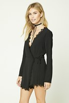 Forever 21 FOREVER 21+ Contemporary Wrap Front Romper