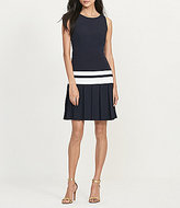 Lauren Ralph Lauren Pleated-Skirt Crepe Dress