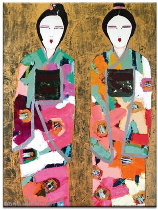 Artist Lane Gold Geisha Canvas Print