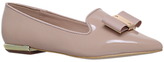 Carvela Major Bow Loafers, Nude