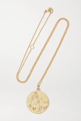Brooke Gregson Capricorn 14-karat Gold Diamond Necklace