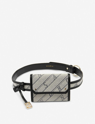Sandro Saint Honore small cotton and leather belt bag