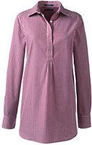 Classic Women's Plus Size No Iron Tunic Top-Vibrant Magenta/Ivory Gingham