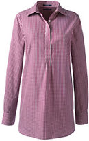 Lands' End Women's No Iron Tunic Top-Raspberry Wine Gingham