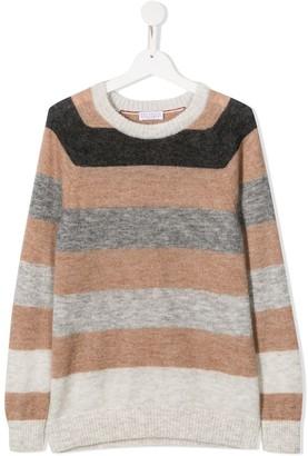 BRUNELLO CUCINELLI KIDS Stripe Knit Jumper
