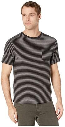 Lucky Brand Stripe Pocket Tee (Black Multi) Men's Clothing