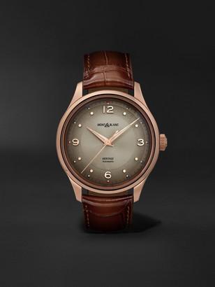 Montblanc Heritage Automatic 40mm 18-Karat Rose Gold And Alligator Watch, Ref. No. 119946