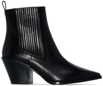 AEYDĒ Kate 80mm ankle boots