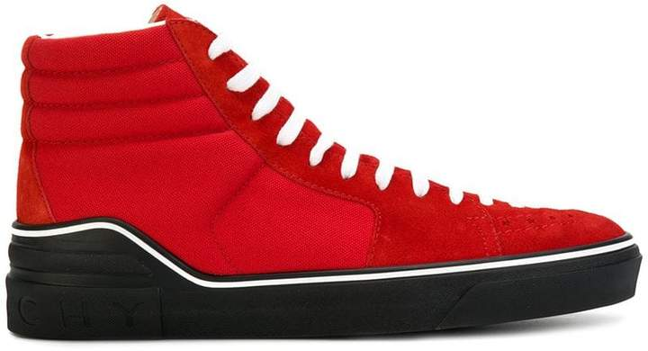 Givenchy contrast panel hi-top sneakers